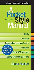 A pocket style manual : [2009 MLA update]