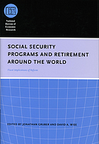 Social security programs and retirement around the world : fiscal implications of reform