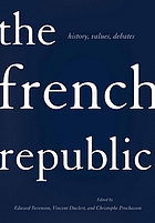 The French Republic : history, values, debates