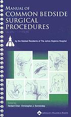Manual of common bedside surgical procedures