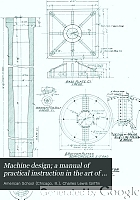 Machine design; a manual of practical instruction in the art of creating machinery for specific purposes,including many working hints essential to efficiency in the operation and care of machines, and increase of output,