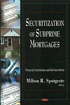 Securitization of subprime mortgages