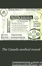 The Canada medical record.