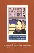 The best American poetry, 2005