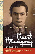 The letters of Ernest Hemingway. Volume 2, 1923-1925