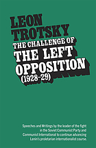 The challenge of the left opposition [3.] 1928-29