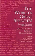The world's great speeches : [292 speeches from Pericles to Nelson Mandela]