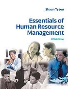 Essentials of human resource management.