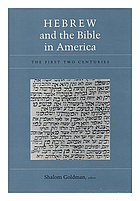 Hebrew and the Bible in America : the first two centuries