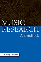 Music research : a handbook