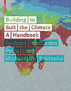 Building to Suit the Climate : a Handbook.