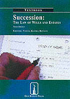 Succession : the law of wills and estates. Textbook.