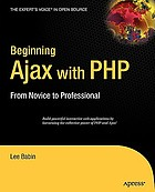 Beginning Ajax with PHP : from novice to professional