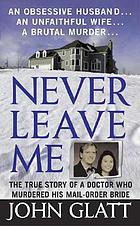 Never leave me : an obsessive husband, an unfaithful wife, a brutal murder