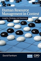 Human resource management in context : insights, strategy and solutions