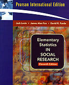 Elementary statistics in social research.