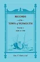 Records of the town of Plymouth.