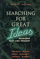 Searching for great ideas : readings past and present