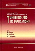 Proceedings of the Adriatico Research Conference on Tunneling and its Implications : ICTP, Trieste, Italy, 30 July-2 August 1996