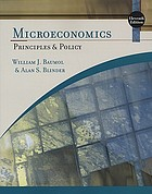 Microeconomics : principles and policy