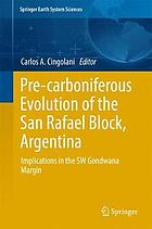 Pre-carboniferous evolution of the San Rafael block, Argentina : implications in the SW Gondwana margin