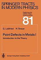 Point defects in metals. 1, Introduction to the theory.