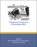Importance of Being Earnest:Charleston Conference Proceedings.