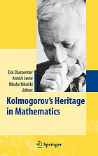 Kolmogorov's heritage in mathematics