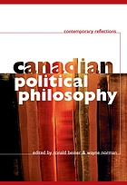 Canadian political philosophy : contemporary reflections