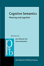 Cognitive semantics : meaning and cognition