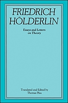 Friedrich Hölderlin : essays and letters on theory
