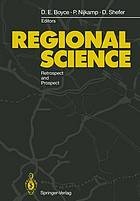 Regional science : retrospect and prospect