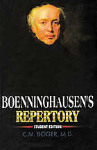 Boenninghausen's characteristics, materia medica & repertory : with word index