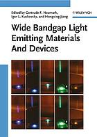 Wide bandgap light emitting materials and devices.