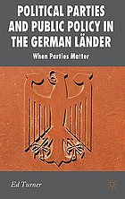 Political parties and public policy in the German länder : when parties matter