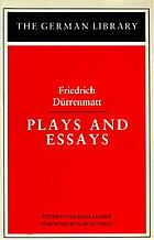 Plays and essays