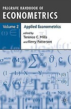 Palgrave handbook of econometrics. Vol. 2, Applied econometrics