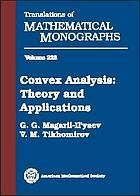 Convex analysis : theory and applications