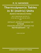 Thermodynamic tables in S1 (metric) units (Système International d'Unités).