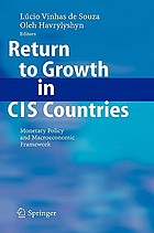 Return to growth in CIS countries : monetary policy and macroeconomic framework