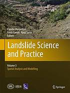 Landslide Science and Practice Volume 3: Spatial Analysis and Modelling
