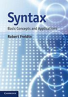 Syntax : basic concepts and applications