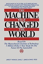 The machine that changed the world : based on the Massachusetts Institute of Technology 5-million dollar 5-year study on the future of the automobile