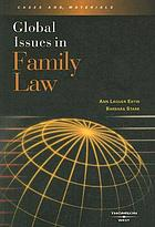 Global issues in family law