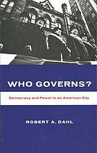 Who governs? Democracy and power in an American city.