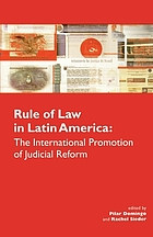 Rule of law in Latin America : the international promotion of judicial reform