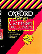 The Oxford study German dictionary