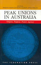 Peak unions in Australia : origins, purpose, power, agency