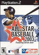 All-Star Baseball 2003 featuring Derek Jeter.