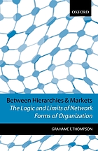 Between hierarchies and markets : the logic and limits of network forms of organization